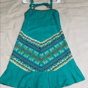FREE PEOPLE teal patterned dress